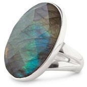 Odyssey Ring - Labradorite (adjustable size)