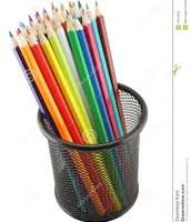 Les crayons de couleur, €2
