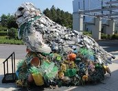 litter collected from the ocean and made into art!