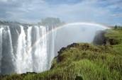 Tropical Waterfall in Zimbabwe
