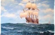 Sailing across on the Mayflower