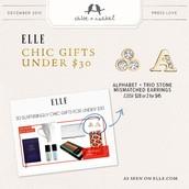 Alphabet Studs Featured in Elle