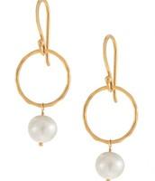 Grace Pearl Earrings - Ivory/Gold