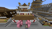 Ancient Chinese city built by a classroom using Minecraft for a history lesson