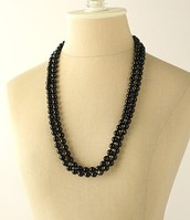 Jet Faceted Beads