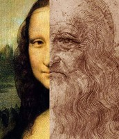 Leonardo's Mona Lisa and himself