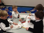 working in our phonics books