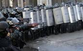 Riot control in Kiev