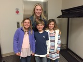 Mrs. Fox with her Students