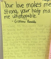 A 7th grader identifies herself with a quote