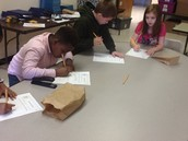 3rd Graders cooperatively decide which objects represent technology in Mrs. Thompson's class.