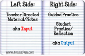 Here's the basic organization of Left Side vs. Right Side