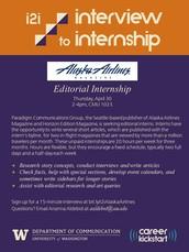 interview to internship with alaska airlines magazine