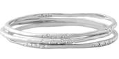 RHEA BANGLES silver - set of 3