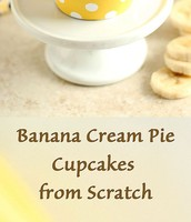 Banana Cream Pie cupcakes from scratch