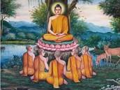 Buddha had thousands of followers