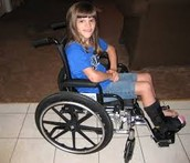 Ashlyn when she broke her leg