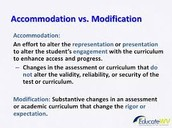 Another way of defining accommodations vs. modifications