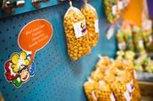 over 15 flavors of gourmet popcorn