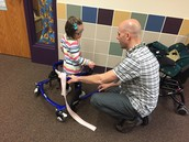 Mr. Todd helps a student