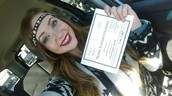 Whitney Burge after receiving her license.