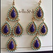 Seychelle earrings - blue (Med weight)