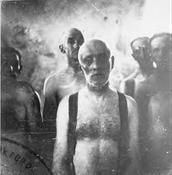Jewish men at Chelmno await gassing