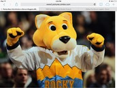 The Denver nuggets mascot