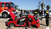 הרכב אחרי התאונה