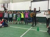 Hans Mayer visited the elementary to share his music.