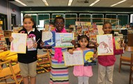 "Second Grade winners of the ""Illustrate Your Favorite Book"" contest!"