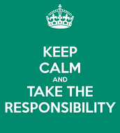 "September Character Focus  ""Responsibility"""