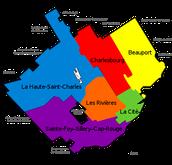 Quebec city's six boroughs