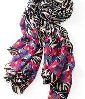 luxembourg scarf painted zebra - Sold