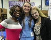 1st Place Winner in Microbiology High School Category- Sydney Coldren (pictured right)