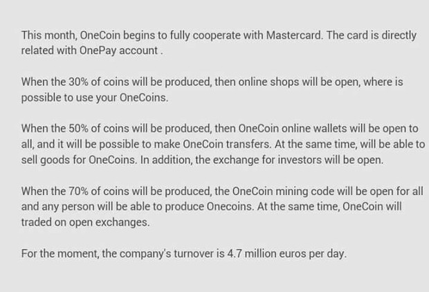 HUGE!!! ONECOIN ANNOUNCEMENT | Smore Newsletters