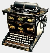 This is a Sholes & Glidden typewriter