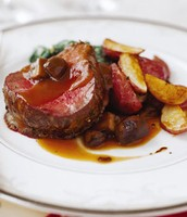 beef tenderloins with Mushrooms and Espagnole sauce