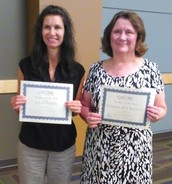 Julie Edney and Sharon Redman Globe Teachers of the Year