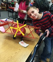 Jacob's red valentines day airplane.