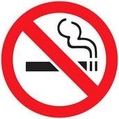 タバコーを すっては だめです。