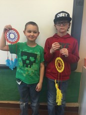 Dream Catchers Created by Our Elementary Students