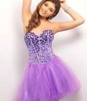 corto corsé púrpura diamantes descoloridos