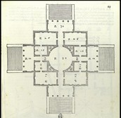 Floor Plan of Villa Rotunda