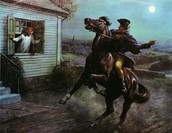 Paul Revere is riding a horse