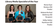 Finalist for Library Media Specialist of the Year from Tech Edge