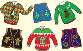 Remember, Wednesday is  Ugly Sweater Day!