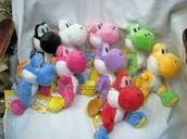 Yoshi plushies