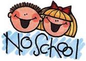 REMINDER: NO SCHOOL ON FRIDAY
