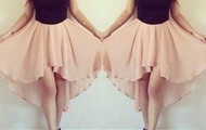 """peach & black """"hollaa for the dress""""!!!!"""